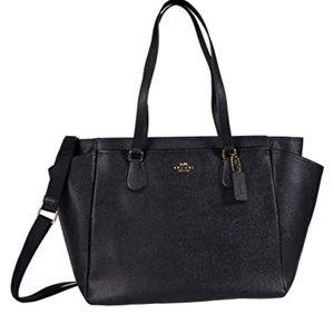 Coach Baby Bag in Crossgrain Black